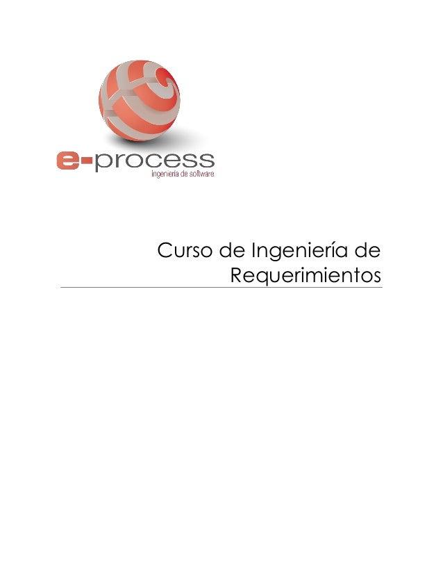 Curso de Ingeniería de Requerimientos