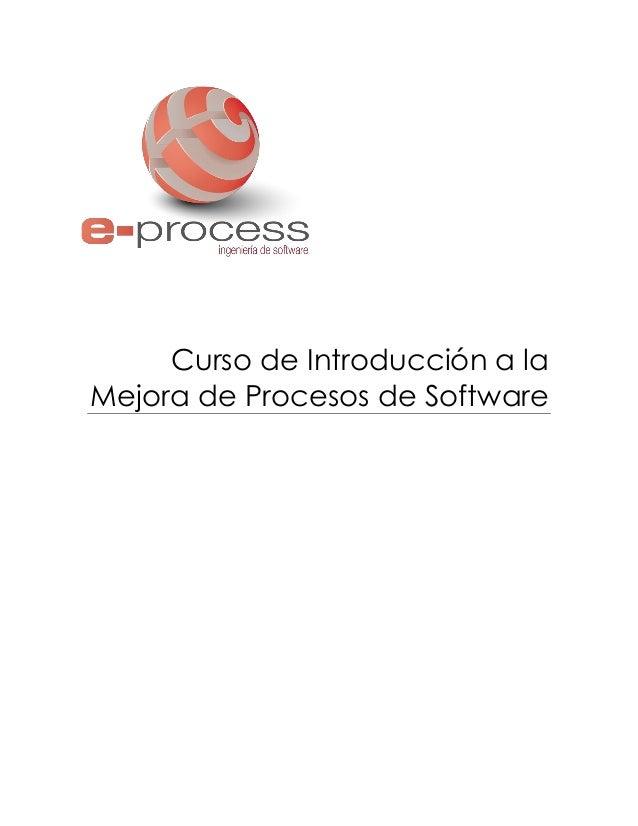 Curso de Introducción a la Mejora de Procesos de Software