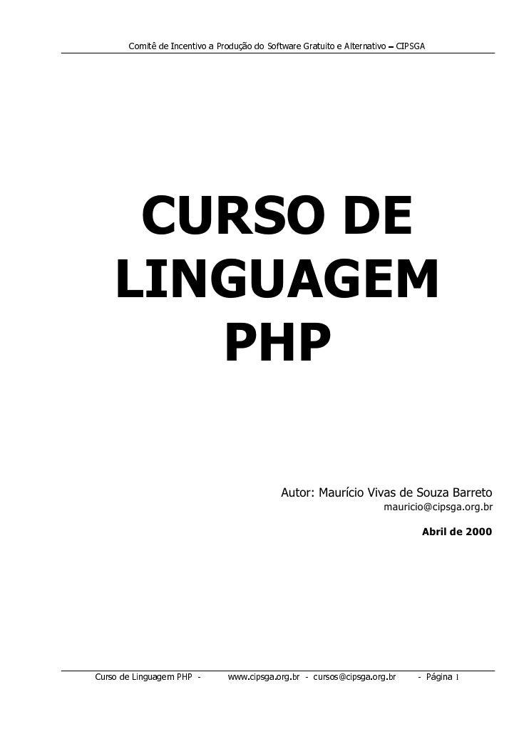 Curso de linguagem PHP