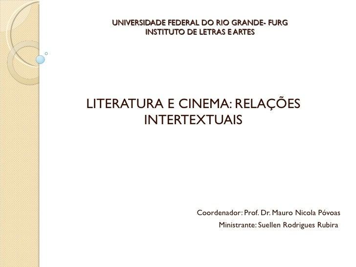 Curso de literatura e cinema  aula 1