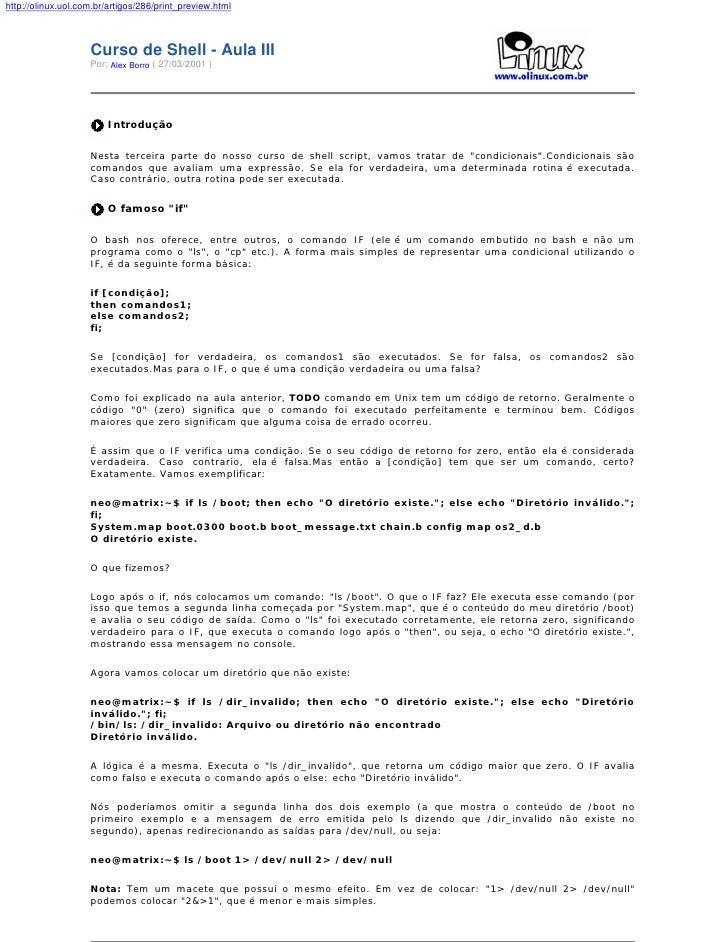 http://olinux.uol.com.br/artigos/286/print_preview.html                        Curso de Shell - Aula III                  ...