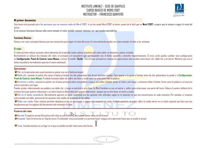 Curso de word 2007 basico
