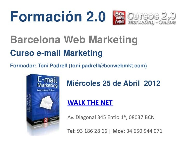 Curso e-mail Marketing WALK THE NET