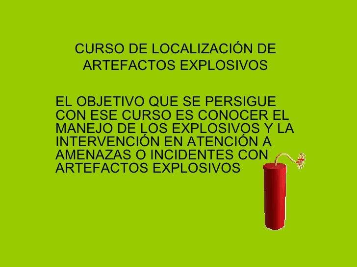 Curso Explosivos