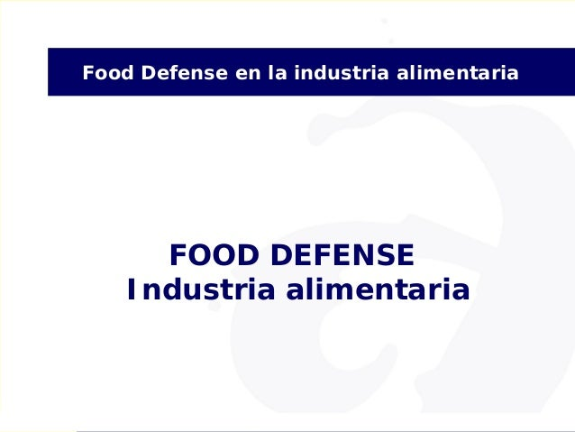 Curso food defense industria alimentaria