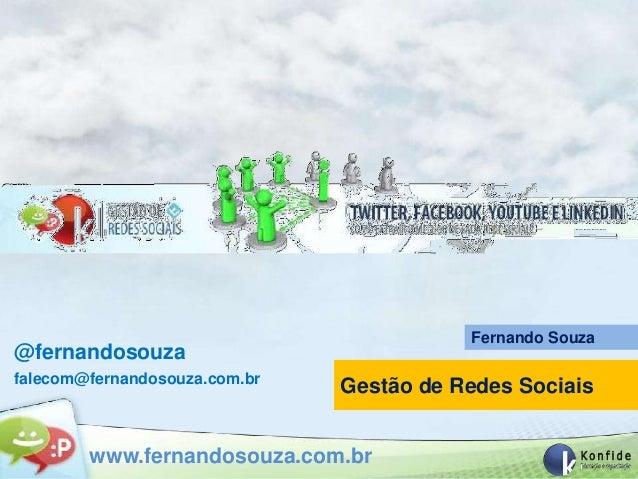Curso Gestão de Rede Sociais - Konfide - 20-10-2012