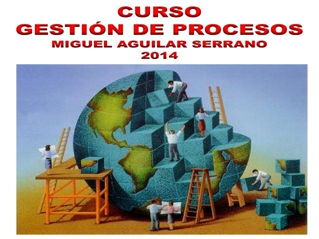 Curso Gestión de Procesos FEB.2014 - Dr. Miguel Aguilar Serrano