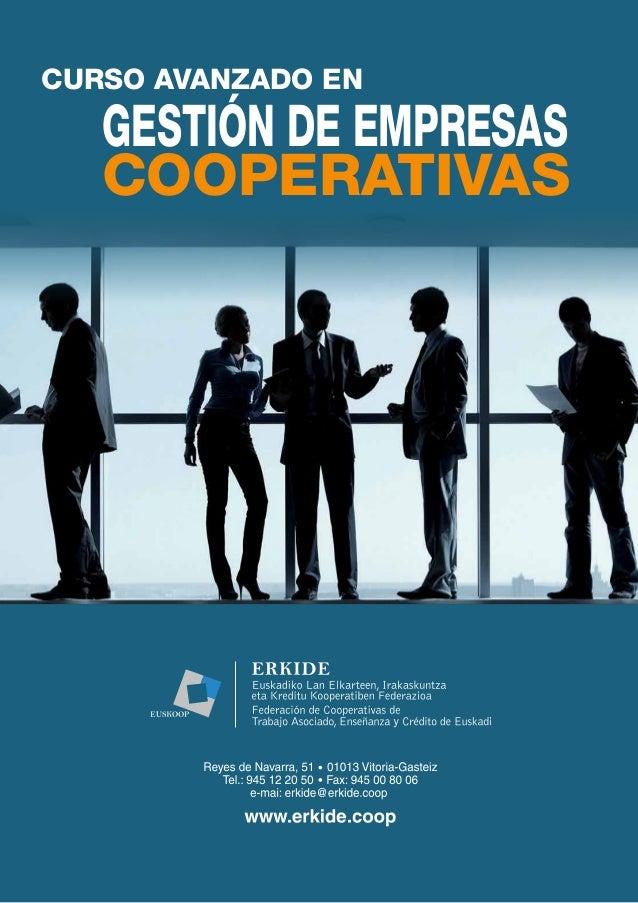 Curso Avanzado en Gestión de Empresas Cooperativas