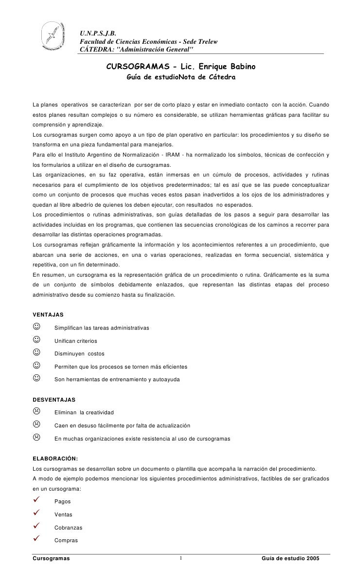 """U.N.P.S.J.B.                   Facultad de Ciencias Económicas - Sede Trelew                   CÁTEDRA: """"Administración Ge..."""