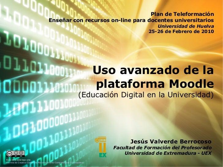 Educación digital en la Universidad (Uso Avanzado de Moodle)