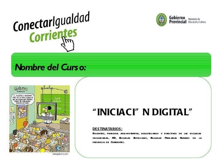 Curso iniciación digital