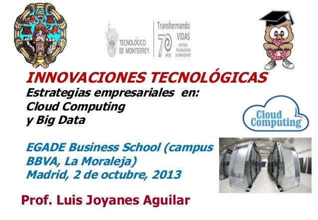 11 Prof. Luis Joyanes Aguilar INNOVACIONES TECNOLÓGICAS Estrategias empresariales en: Cloud Computing y Big Data EGADE Bus...