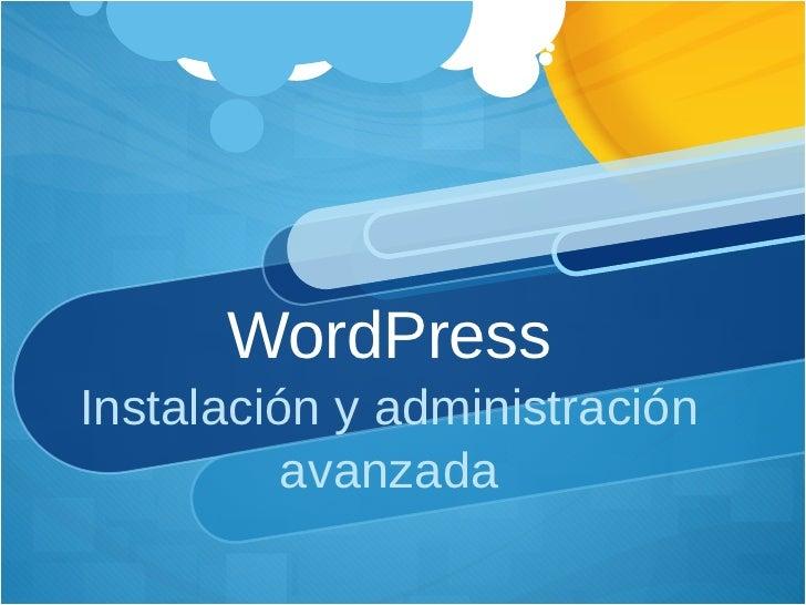 Curso Instalacion y Admin Word Press