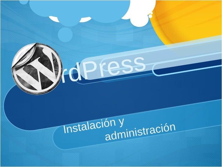Curso Install&Admin Word Press