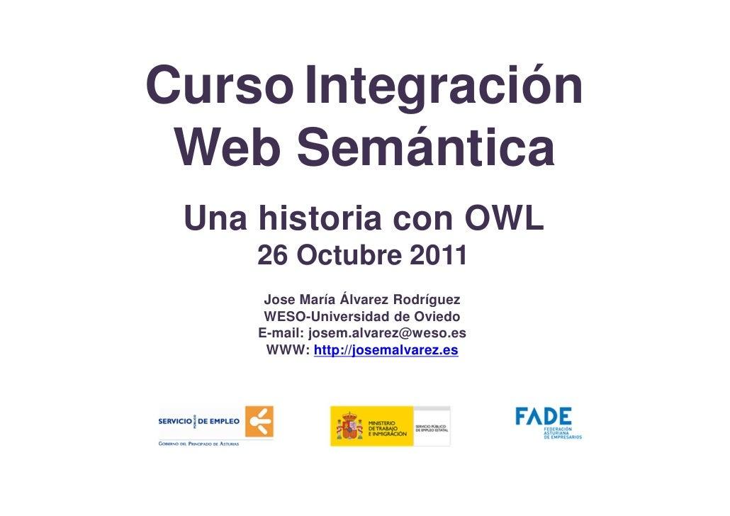 Curso Integración Web Semántica-OWL