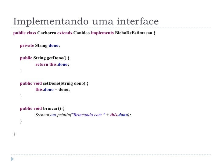 Interface cursos