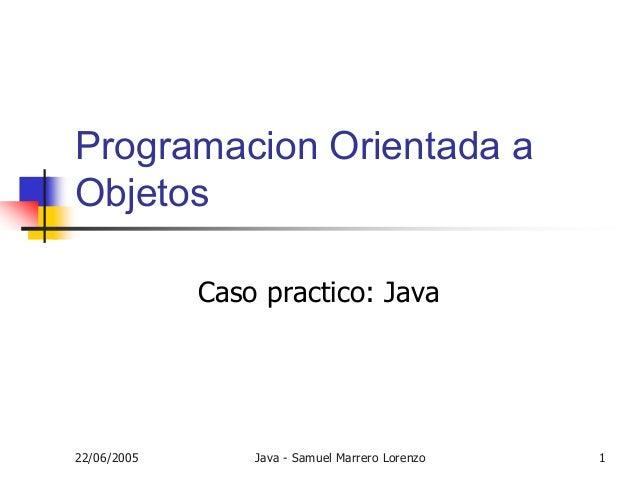 Curso Java Resumen - Curso 2005-2006