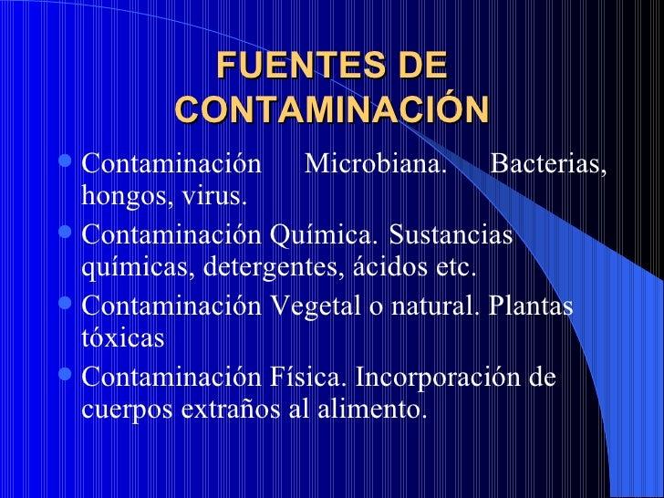 Curso manipuladores de alimentos - Fuentes de contaminacion de los alimentos ...