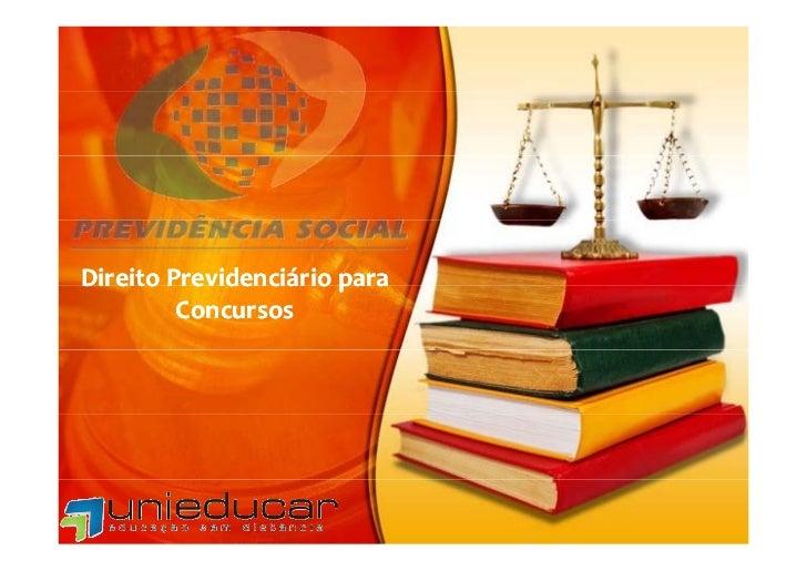 Curso online direito previdenciário p concursos