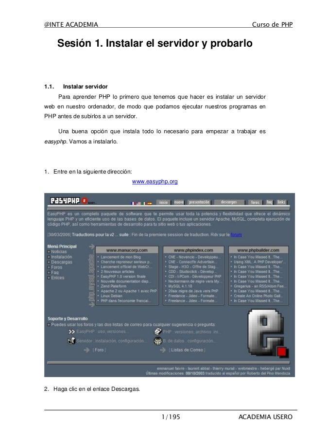 Curso PHP Academia Usero