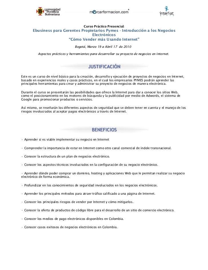 Curso practico ebusiness para pymes 2010