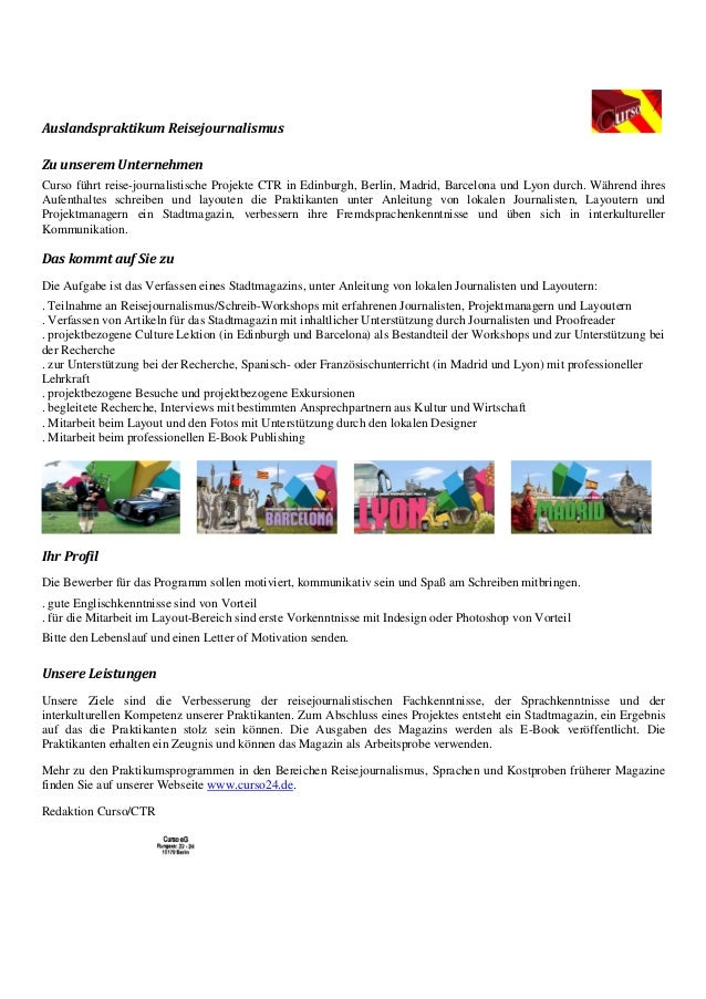 curso praktikum reisejournalismus_kurzinfo_projekte
