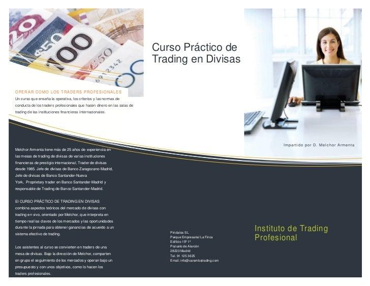 Curso Práctico de                                                                         Trading en DivisasOPERAR COMO LO...