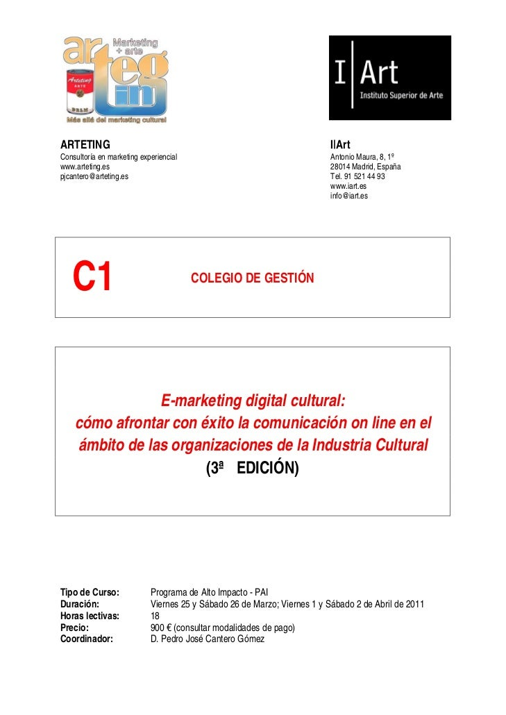 ARTETING                                                                  I|ArtConsultoría en marketing experiencial      ...