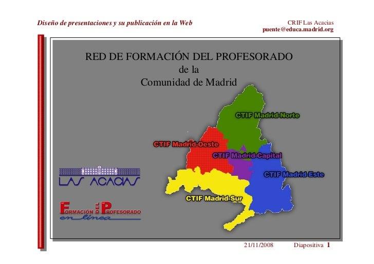 RED DE FORMACIÓN DEL PROFESORADO de la Comunidad de Madrid