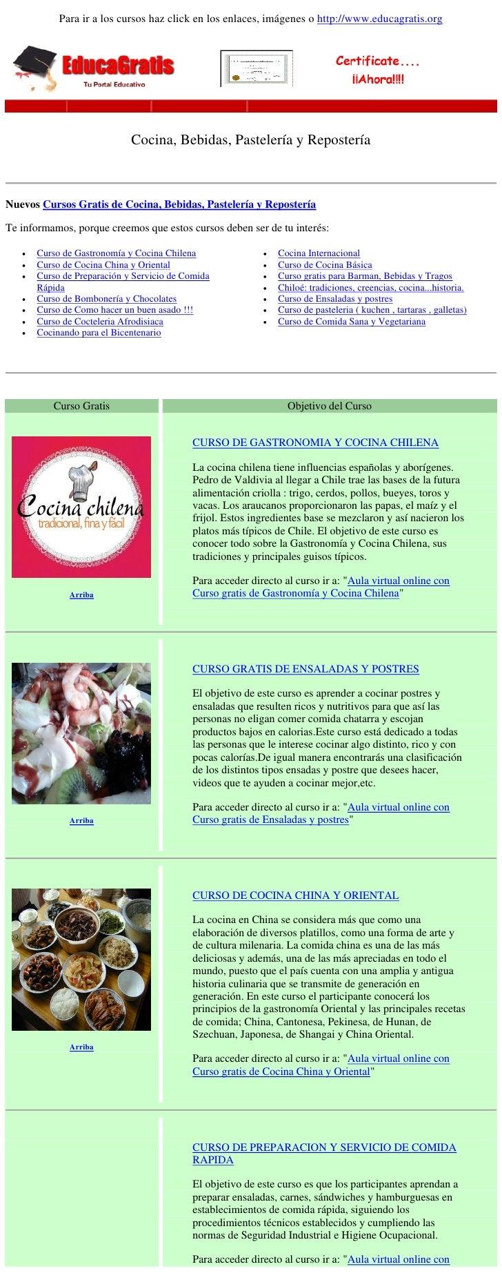 Cursos gratis de cocina bebidas pasteler a y reposter a - Cursos de cocina barcelona gratis ...