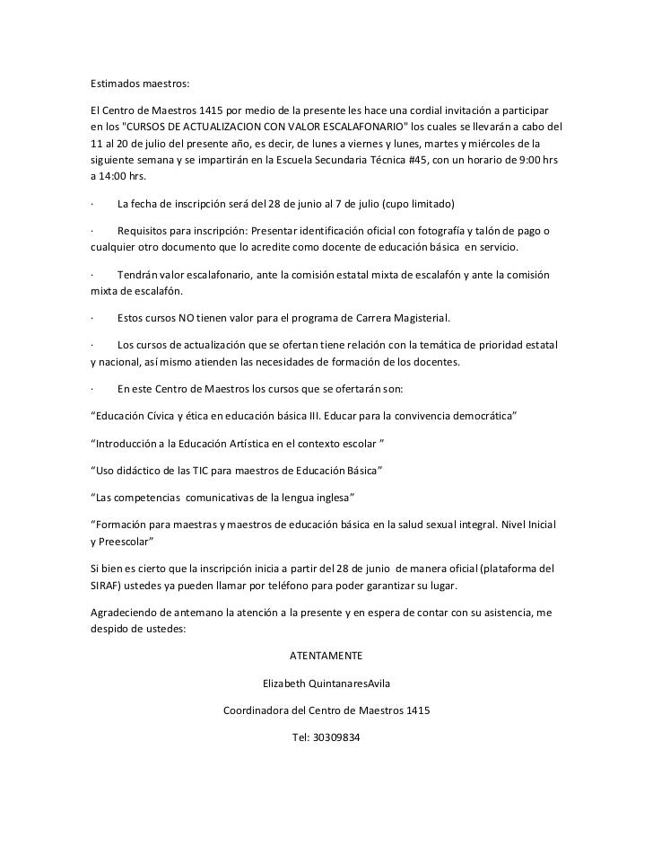 Cursos de actualización con valor escalafonario 2011