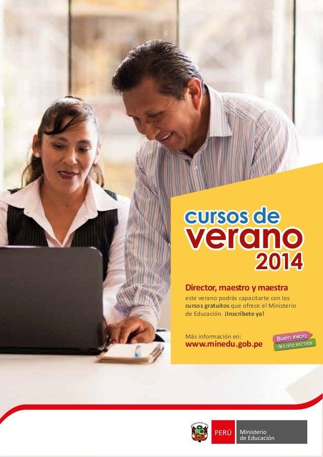 Cursos de Verano 2014 del Ministerio de Educación del Perú