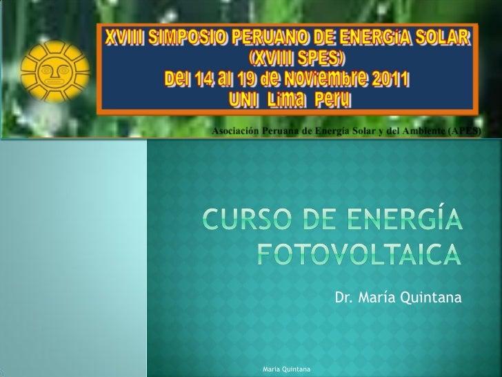 Dr. María QuintanaMaria Quintana