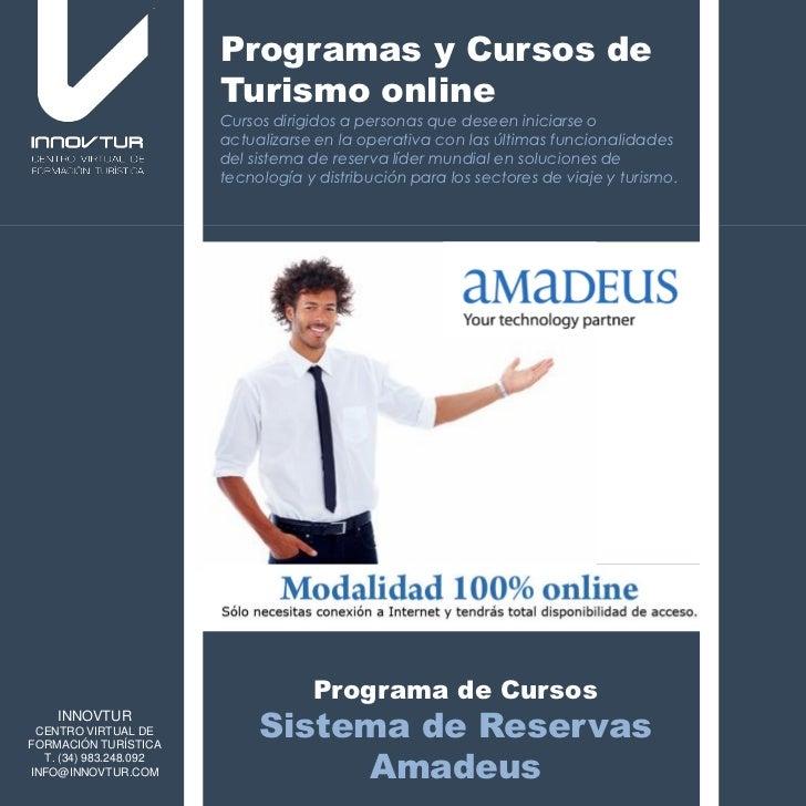 Cursos Sistemas de Reservas Amadeus innovtur