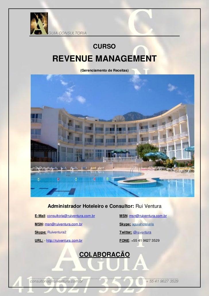 GUIA CONSULTORIA                                      CURSO             REVENUE MANAGEMENT                               (...