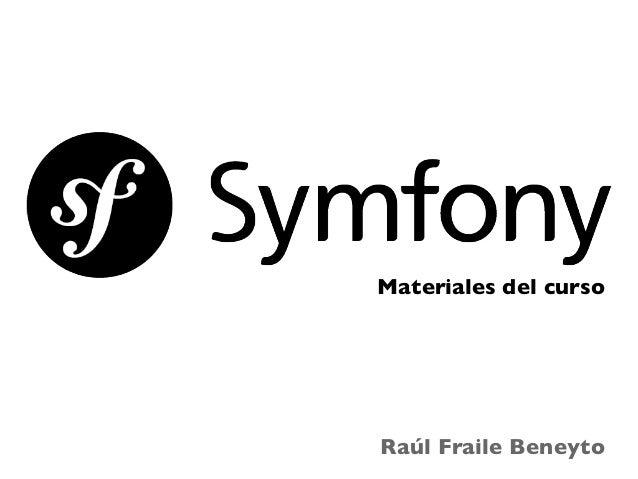 Materiales del curso  Raúl Fraile Beneyto