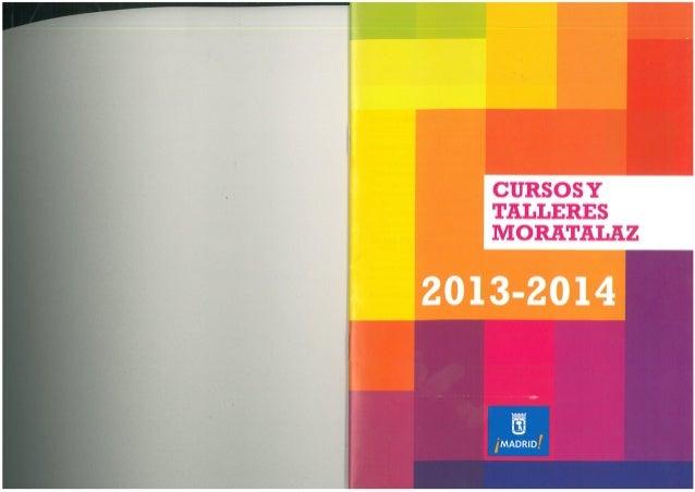 Cursos y talleres moratalaz 2013   2014