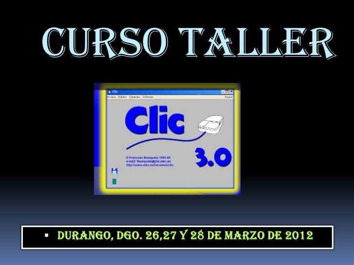 CURSO TALLER