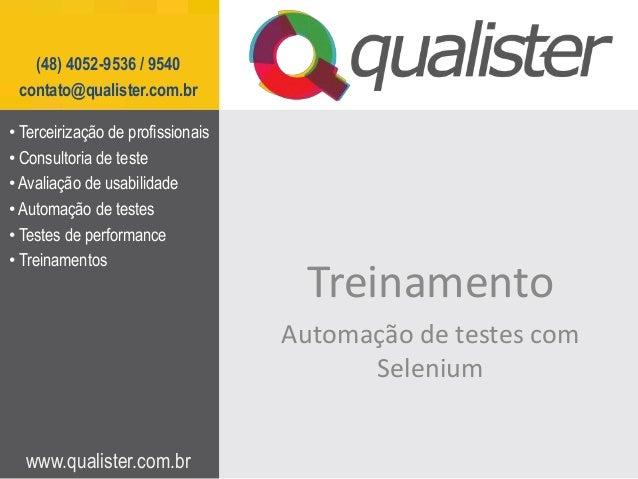 Curso treinamento automação de testes com selenium