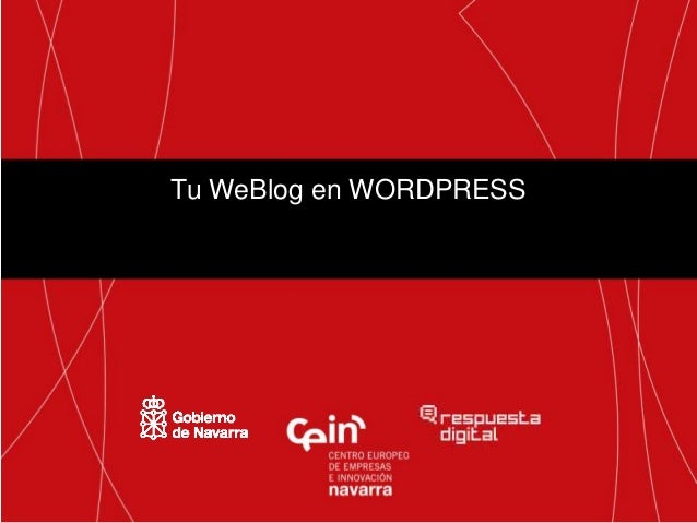 Curso tu blog en  wordpress