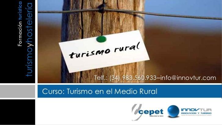 Curso turismo en el medio rural