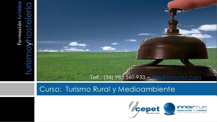 Curso turismo rural y medioambiente