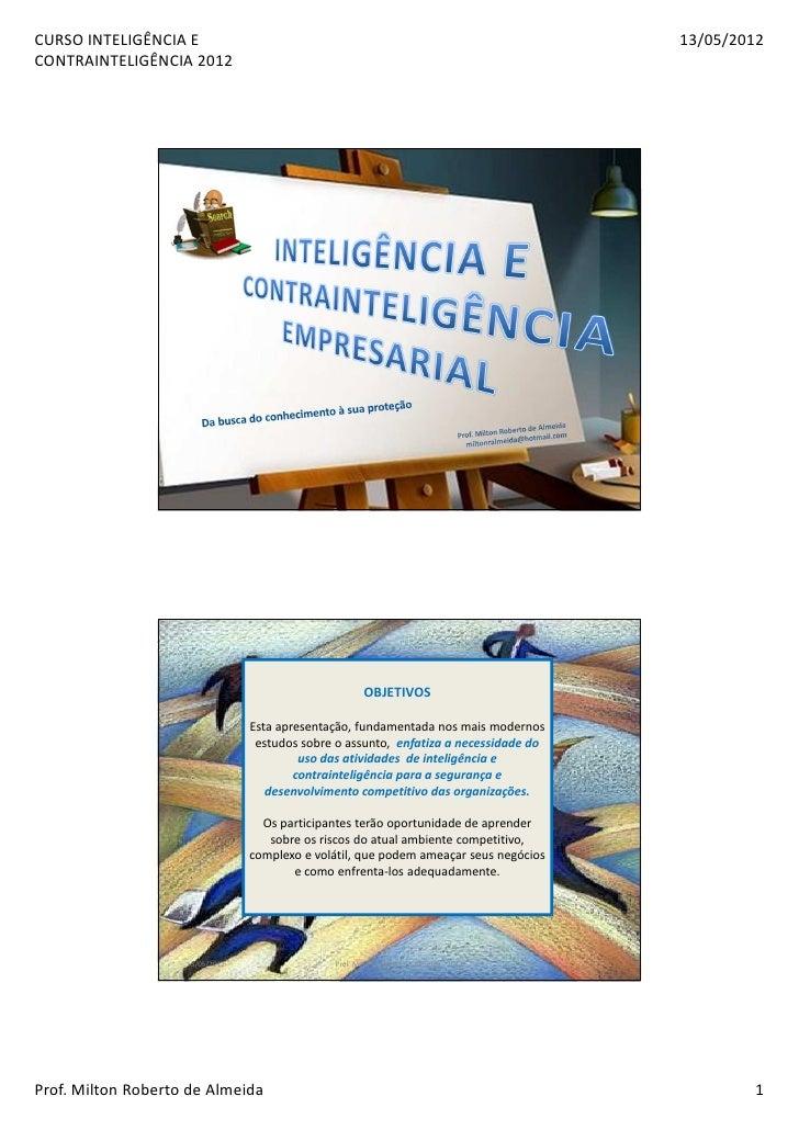 CURSO INTELIGÊNCIA E                                                                        13/05/2012CONTRAINTELIGÊNCIA 2...