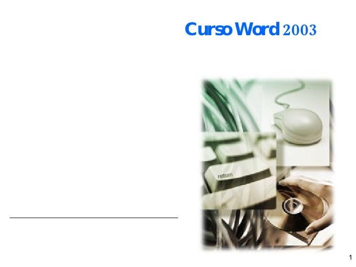 Curso Word 2003