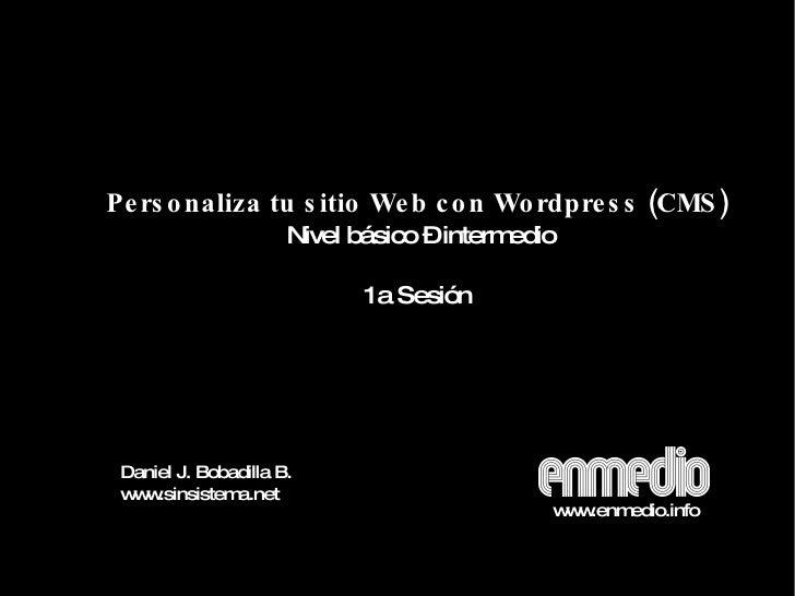 Taller personaliza tu Wordpress 1a Sesión