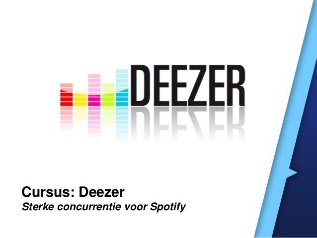 Cursus: Deezer