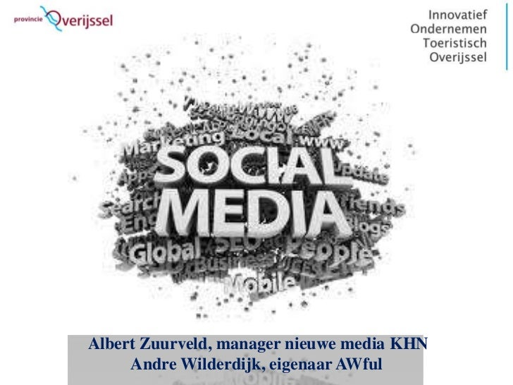 Albert Zuurveld, manager nieuwe media KHN     Andre Wilderdijk, eigenaar AWful