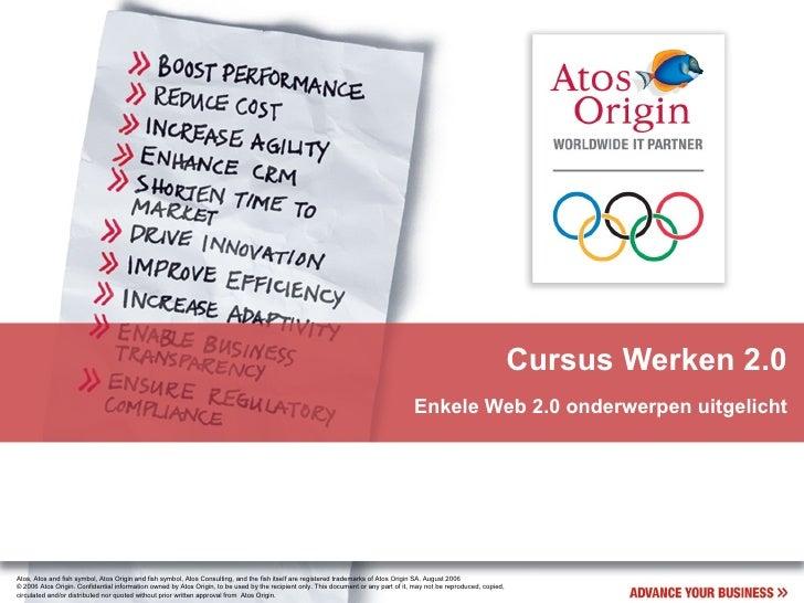 Cursus Werken 2.0                                                                                                         ...