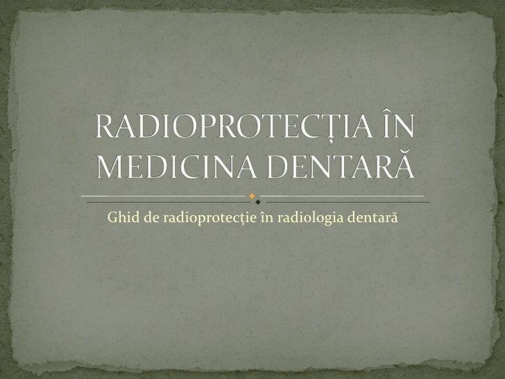 Radioprotectie