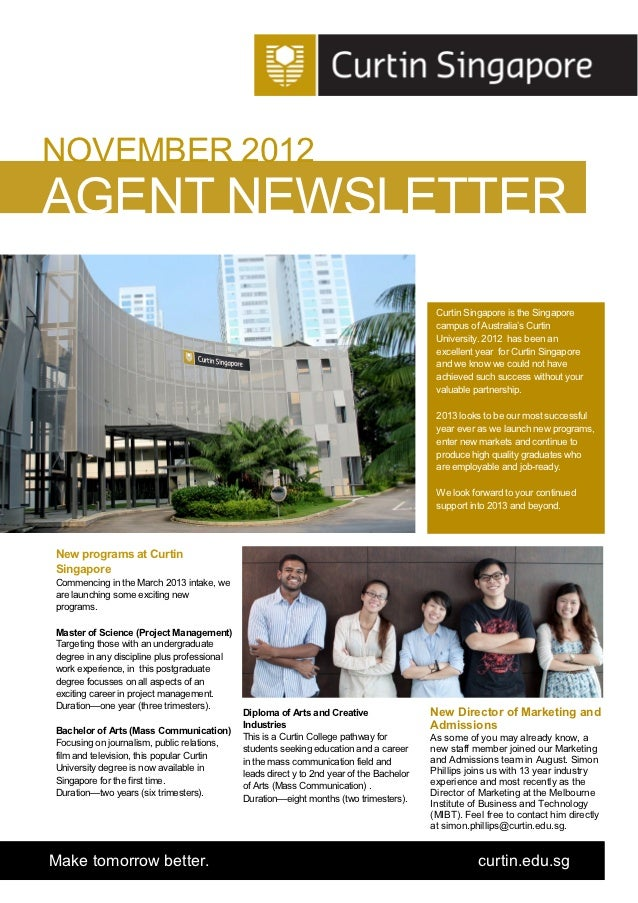 Curtin spore agent newsletter november 2012 v2